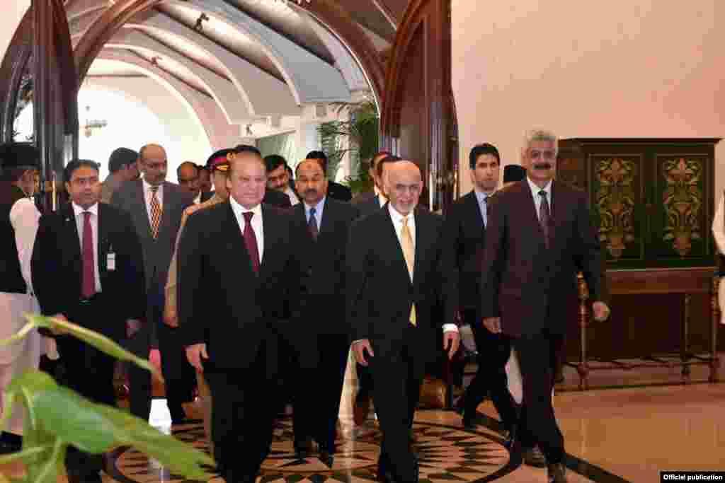 افغان صدر اشرف غنی وزیر اعظم نواز شریف کے ہمراہ ہارٹ آف ایشیا کے اجلاس میں شرکت کے لیے تشریف لا رہے ہیں۔