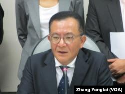 民进党立法院党团干事长高志鹏(美国之音张永泰拍摄)
