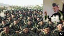 ملاقات کرزی با جنرالان اردوی ملی افغانستان