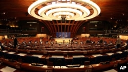 General view of the plenary room of the Council of Europe in Strasbourg, eastern France, Monday June 22, 2009. The Parliamentary assembly decided Monday to postpone the vote to the next session the election of the new secretary general of the Council of E