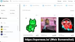 Так выглядит OpenSea, один из самых известных NFT-маркетплейсов