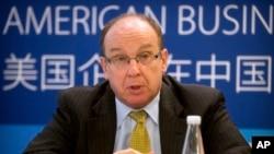 位於北京的美國商會中國政策委員會主席萊斯特羅斯資料照。