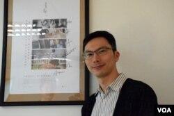 香港電影《十年》導演周冠威。(美國之音湯惠芸攝)