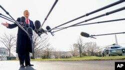 Президент США Дональд Трамп. Белый дом, Вашингтон. 13 марта 2018 г.