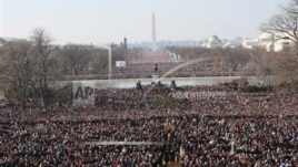 Entuziazmi i publikut për inaugurimin e presidentit Obama