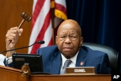House Oversight and Reform Committee Chairman Elijah E. Cummings, D-Md., considers whether to hold Attorney General William Barr and Commerce Secretary Wilbur Ross in contempt, on Capitol Hill in Washington, June 12, 2019.