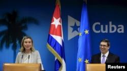 Federica Mogherini e Bruno Rodriguez Parrilla, Havana, Março de 2016