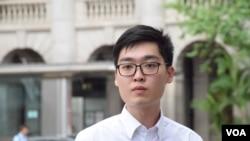 主張「港獨」的香港民族黨召集人陳浩天星期一舉行記者會(VOA湯惠芸攝)