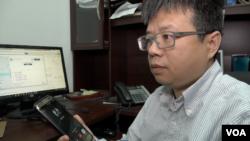 中国劳工观察执行主任李强(章真拍摄)