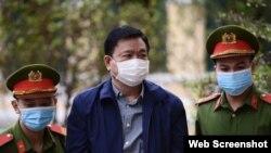 Ông Đinh La Thăng tại tòa sáng 22-12-2020. Photo Tuoi Tre Online