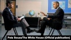 مصاحبه جورج استفانوپولوس، مجری خبر شبکه تلویزیونی اِیبیسی در مصاحبه با رئیس جمهوری آمریکا – کاخ سفید، ۲۳ نوامبر (۲ آذر)