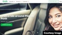 Screenshot of Grab ride-sharing website