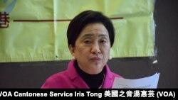香港立法會議員、民主黨主席劉慧卿 (攝影﹕美國之音記者湯惠芸)