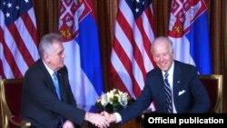 Joseph Biden dhe Tomislav Nikolic