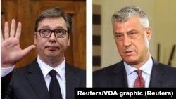 Predsednici Srbije i Kosova: Aleksandar Vučić i Hašim Tači (Foto: Reuters)
