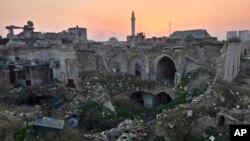 د حلب ویجاړ شوی ښار