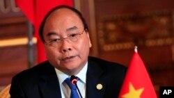 Ông Nguyễn Xuân Phúc trong một sự kiện tại Nhật Bản lúc còn là Thủ Tướng, tháng 10, 2018.