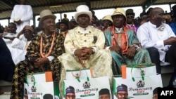 Des particpants lors des célébrations de la Journée de la démocratie à Abuja, le 12 juin 2019.