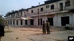 Binh sĩ Nigeria canh gác tại Maiduguri, ngày 8/10/2012