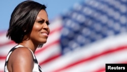 FILE - U.S. First Lady Michelle Obama.