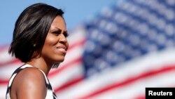美国第一夫人米歇尔.奥巴马(资料照片)