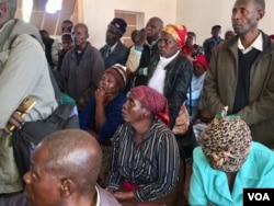 War veterans at a meeting in Gwanda, Matabeleland South province.