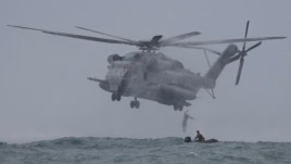 A CH-53, similar to those that crashed off the coast of Hawaii.