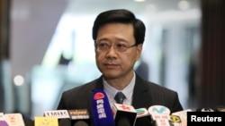 香港保安局局长李家超2019年10月23日在立法会宣布撤回逃犯条例修订草案。