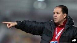 L'entraîneur Nabil Maaloul, le 25 décembre 2014.