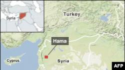 Grada Hama na mapi Sirije