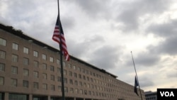 国务院降半旗悼念九一一和班加西事件(美国之音张蓉湘拍摄)
