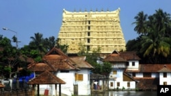 FILE - Sree Padmanabhaswamy Temple in Thiruvananthapuram, India, July 2011.