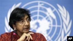 UN Human Rights Chief Navi Pillay (file photo)