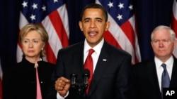 Shugaban Amurka Barack Obama yake jawabi.