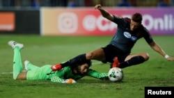 Le quart de finale entre l'Al Ahly SC et l'Espérance Sportive de Tunis, à Alexandrie, Egypte, le 16 septembre 2017.
