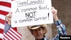 Protestas en Texas por la construcción del oleoducto Keystone, que atravesaría el territorio de Estados Unidos