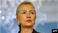 Ngoại trưởng Hoa Kỳ Hillary Clinton phát biểu tại Bộ Ngoại giao ở Washington, 25/10/2011