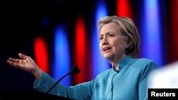 Ứng cử viên tổng thống của đảng Dân chủ Hillary Clinton.