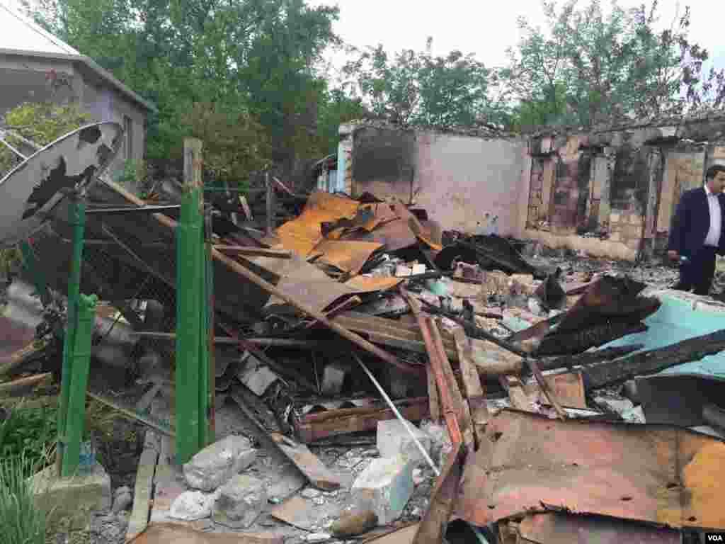 Ağdamda atəşkəsin pozulması nəticəsində dağılan evlər