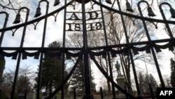 Kapija na ulazu u groblje u Uspavanoj Dolini gdje je sahranjen pisac Vašington Irving