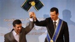 یکی از دیدارهای احمدی نژاد (چپ) و اسد