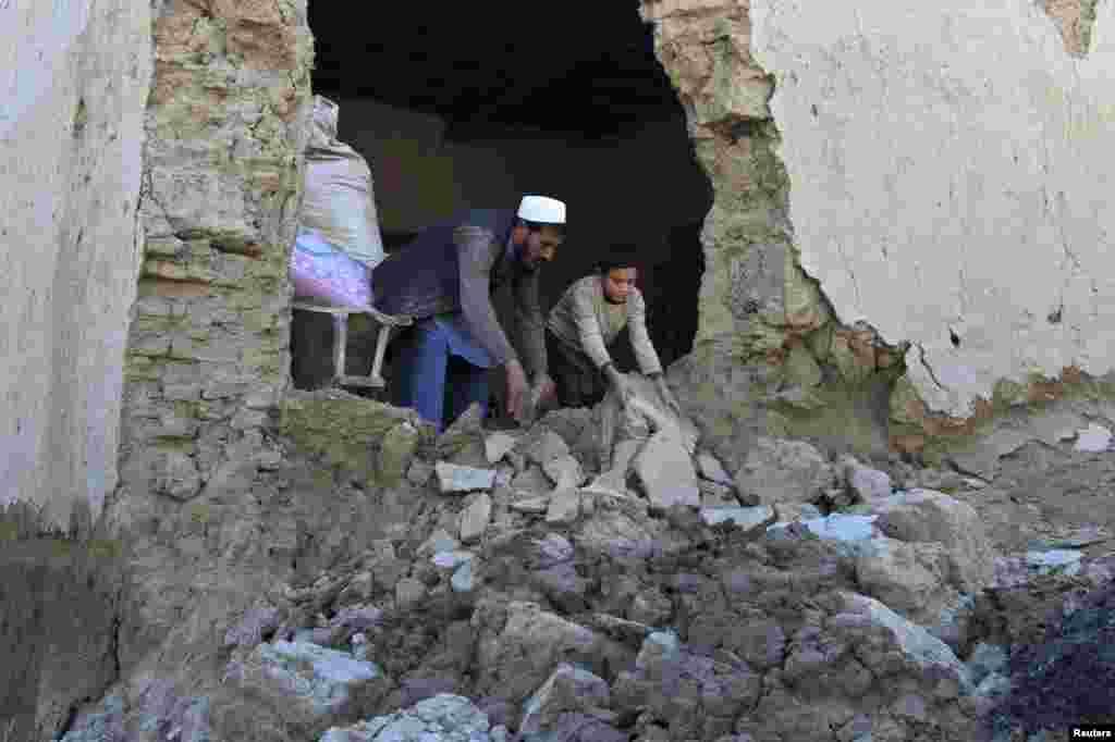 خسارات ناشی از زلزله روز دوشنبه در ولسوالی بهسود ننگرهار