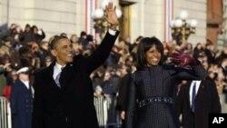 美国总统奥巴马和夫人米歇尔(档案照)