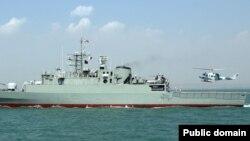 伊朗戰艦在軍演中