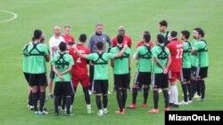 تمرین تیم ملی فوتبال ایران در کمپ دبی بدون بازیکنان پرسپولیس