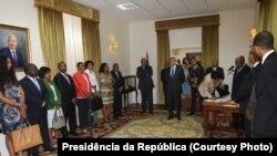 Novos membros do Governo de Cabo Verde empossados a 22 de Setembro de 2014.