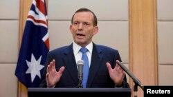 Premijer Australije Toni Abot na konferenciji za novinare u Pekingu