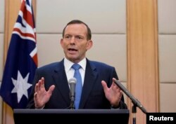 FILE - Australian Prime Minister Tony Abbott, April 12, 2014.
