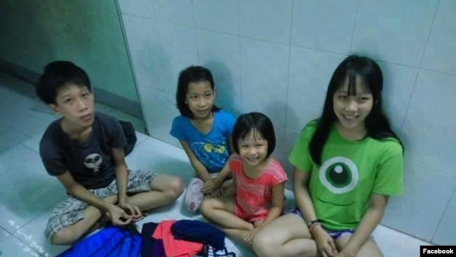 4 đứa con của chị Thanh Loan và anh Trung Lợi. (Ảnh: Facebook Võ An Đôn)