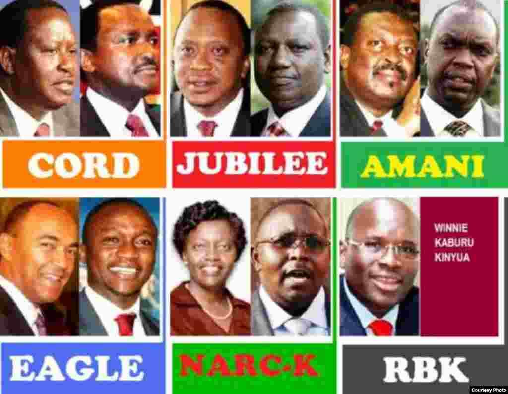 Wagombea wakuu wa uchaguzi Kenya